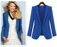 Hot Fashion Design Women Plus Size Office Long Sleeve Suit Jacket Coat