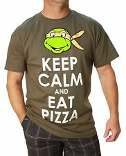 TMNT Men's Keep Calm And Eat Pizza Short Sleeve T-Shirt