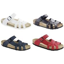 Birkenstock Pisa Sandals Birko-Flor or Leather - white blue black red