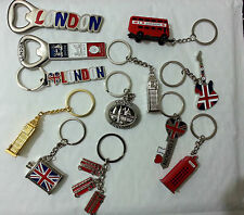 London souvenirs key rings,fridge magnets/bottle opners