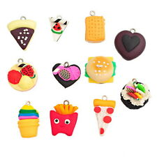 Wholesale lots Polymer Clay Pendants Christmas Cake Pattern Multicolor