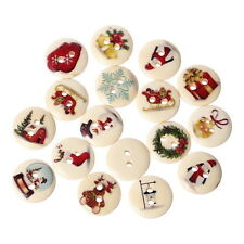 Wholesale lots Mixed Wooden Christmas Gift Buttons 2 Holes Fit Scrapbook 15mm