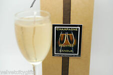 Unusual Congratulations Gift Champagne Candle looks and smells like Champagne