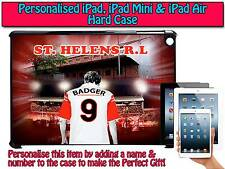 PERSONALISED ST HELENS RL RUGBY LEAGUE IPAD, MINI, AIR, HARD CASE COVER