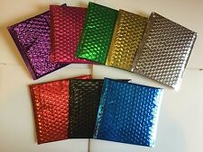 250 X 180 DVD METALLIC FOIL JIFFY BAGS RED BLACK GREEN PINK GOLD BLUE PINK SILVE