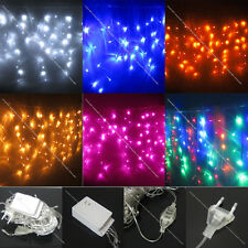 3M 100 Led Curtain Icicle Light String Fairy White Warm Red Blue RGB Pink Purple