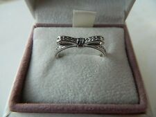 NEW! AUTHENTIC PANDORA RING SPARKLING BOW RING #190906CZ HINGED BOX INCLUDED