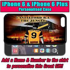 PERSONALISED CASTLEFORD RUGBY LEAGUE IPHONE 6 & iPHONE 6 PLUS SILICONE BACK CASE