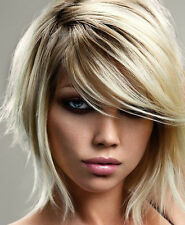 SMALL MINI SIDE SWEEPING CLIP IN ON FRINGE BANGS HAIRPIECE HUMAN HAIR ALL COLS