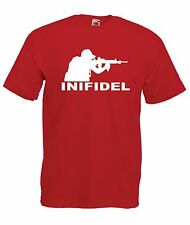 INFIDEL ARMY army war game gamer soldier birthday christmas gift ADULT T SHIRT