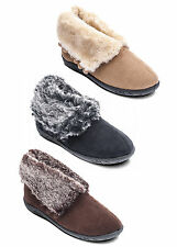 Padders ESKIMO Womens Ladies Faux Fur Extra Wide (EE) Fit Winter Boot Slippers