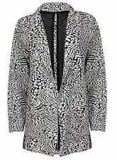 BRAND NEW LADIES EX ATMOSPHERE LONG SLEEVE ANIMAL PRINT JACKET BLAZER SIZE 6-20