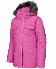 RRP £36.99 TRESPASS GIRLS QUILTED JACKET / COAT WITH DETACHABLE HOOD Tlbe