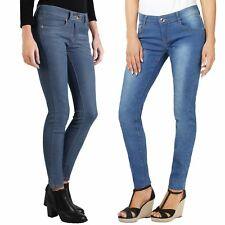 Women Stretch Denim Slim Fit Skinny Jeans Casual Colour Trousers Pants Size 6-16