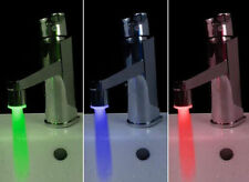 LED Faucet Glow Temperature Sensor Mini Water Stream Tap RGB 3 Color No Battery