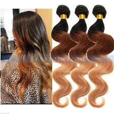 3 Bundles Ombre BRAZILIAN virgin Remy Body Wave Curly human hair Extensions