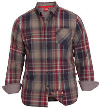 NEW BIG SIZE LONG SLEEVE COLLARED CHECK SHIRT NAVY STONE RED 3XL 4XL 5XL 6XL