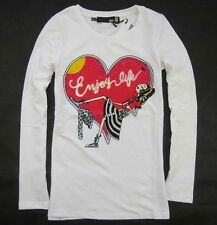 Love 19664 Lady's Diamod girl with heart Moschino Top/T-shirt  Sz S/M/L/XL