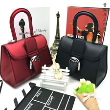 New Womens Leather Style Tote Shoulder Bag Handbag Ladies