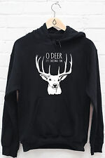 O Deer it's Christmas Jumper hoodie xmas festive holiday gift funny hoody Z201
