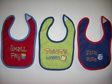 Luvable Friends Bibs Baby Infant Select Style Red Blue Green NWOT
