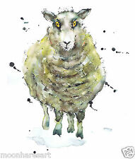 PRINTS from ORIGINAL SHEEP by MOON HARES ART Paintings & Prints