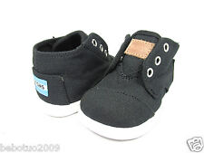 NEW INFANT TODDLER TINY TOMS PASEO MID BLACK CANVAS 10002660ORIGINAL