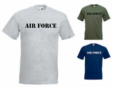 AIR FORCE T SHIRT US AIR FORCE MARINES NAVY ARMY FLIGHT GYM FITNESS WORKOUT