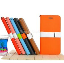 PU Leather Wallet Flip Cover Stand Case For Apple iPhone 6 4.7''/6 Plus 5.5''