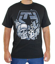 Tribal Gear Men's Smoke T Shirt Black  tattoo art skull chicano lowrider