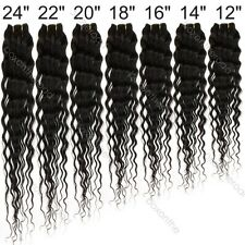Brazilian Remy Black Curly Deep Wave Wavy 100% Human Hair Extensions