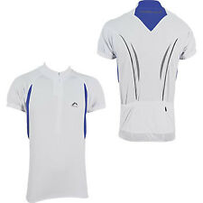 More Mile Short Sleeve Mens Cycle Cycling Bike Jersey Top White Pockets