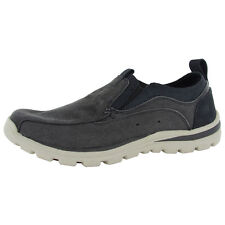 Skechers Mens Relaxed Fit Superior Morton 63743 Canvas Slip On Shoe