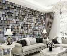 3D Square Stone Wall Murals Wallpaper Decal Decor Home Kids Nursery Mural Home