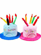 Men Women Novelty Plush Cotton Happy Birthday Candle Cake Hat Lovely Cap Hat Hot
