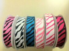 Multi color Zebra grosgrain ribbon 10 yards buy more 7/8 Closeout below my cost