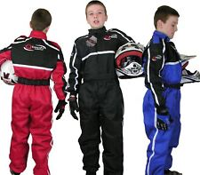 Childrens Kids RACE SUIT Overalls Karting Motocross Dirt Bike by Qtech