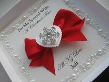 Luxury Handmade Greetings Card - With/Without Box - Wife/Husband/Mum/Dad etc