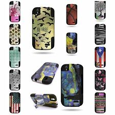 Hybrid Heavy Duty Case Design Tough Cover with Kickstand for ZTE Grand X