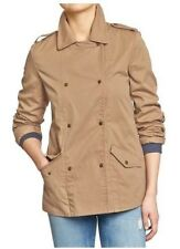 NWT WOMEN'S OLD NAVY M L KHAKI DOUBLE BREASTED LIGHTWEIGHT JACKET COAT NWT L