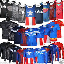 Mens Alter Ego compression Running Cycling Trainning Superhero T Shirt Tee Tops