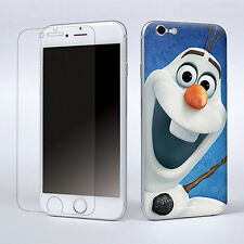 "Snowman Decal Vinyl Skin Sticker Cover W/Screen Film For Apple iPhone 6 4.7"" New"