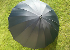 Umbrella, WIND RESISTANT with 16 Spokes, Automatic Open, Black or Red Brolly