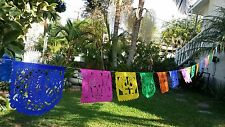 """MEXICAN PAPEL PICADO DAY OF THE DEAD MULTI-COLOR SIZE SMALL 9""""X6"""""""