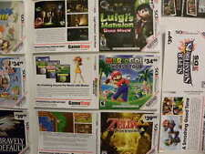 Nintendo 3DS Game Case Inserts