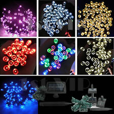 LED Solar Powered Fairy Lights String Christmas Garden Wedding Party Outdoor UK