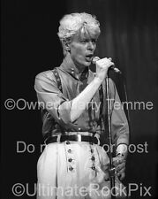 David Bowie Photo 16x20 Poster Size 1980s Concert Photo by Marty Temme 1A