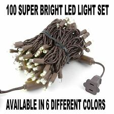 34 Foot LED Outdoor Mini Light String - Set of 100 Wide Angle LED Mini Lights