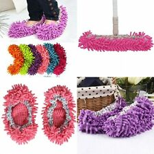 Mop 2Pcs Slipper Cover Cleaner Dusting Cleaning Foot Sock Shoes Floor Polishing