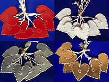 Shabby Chic Metal Hearts Set 6 Christmas Tree Decorations Gifts Wedding Favours